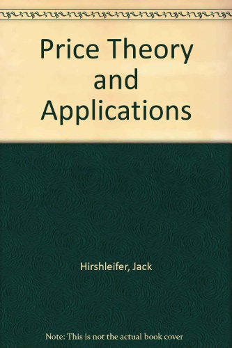 book Price Theory and Applications