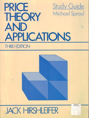book Price Theory and Applications: Study Guide