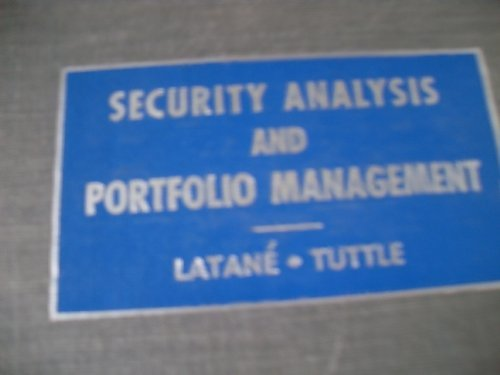 book Security analysis and portfolio management