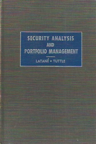 book Security Analysis and Portfolio Management. 1st Ed