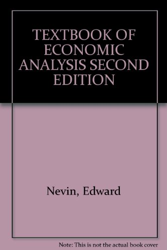 book TEXTBOOK OF ECONOMIC ANALYSIS SECOND EDITION