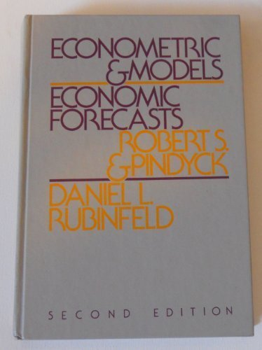 book Econometric models and economic forecasts by Pindyck, Robert S (1981) Paperback