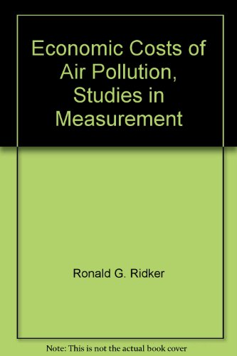 book Economic Costs of Air Pollution, Studies in Measurement