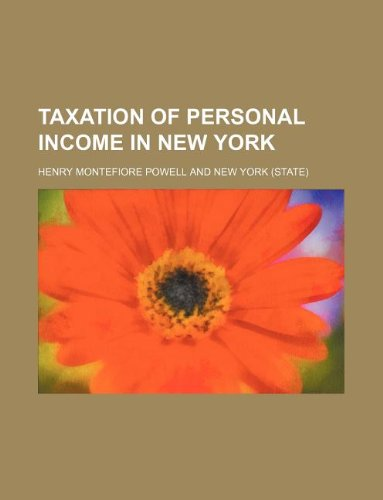 book Taxation of personal income in New York