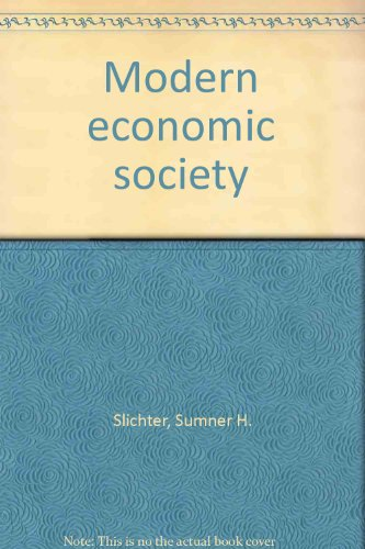 book Modern economic society,