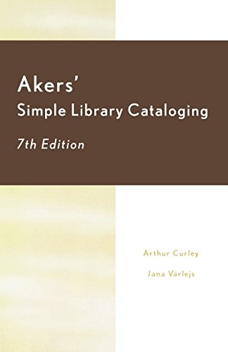 book Akers\' Simple Library Cataloging (7th Ed)