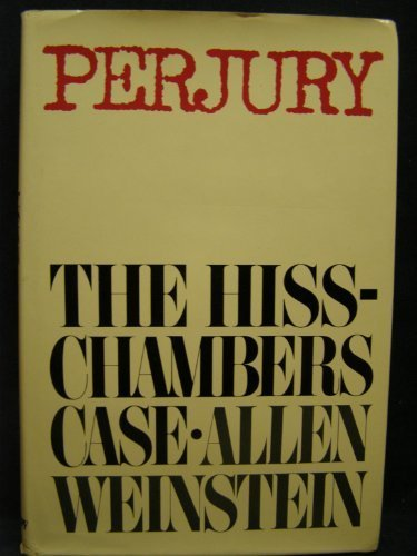 book Perjury: The Hiss-Chambers Case 1st printing of 1st edition by Weinstein, Allen (1978) Hardcover