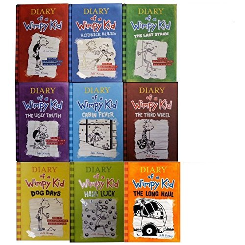 book Diary of Wimpy Kid Set. Book 1-9 (The Long Haul Rodrick Rules Dog Days The Ugly truth Diary of a Wimpy Kid The Last Straw Cabin Fever The thrid Wheel Hard Luck)