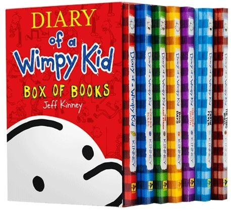 book Diary of a Wimpy Kid Box Set Plus Sticker Sheet : Diary of a Wimpy Kid: A Novel in Cartoons, Rodrick Rules, The Last Straw, Dog Days, The Ugly Truth, Cabin Fever, and The Third Wheel