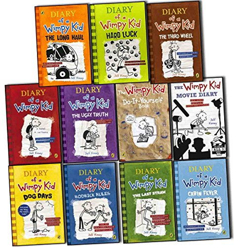 book Diary of a Wimpy Kid Collection 11 Books Set Pack by Jeff Kinney RRP: \u00C2\u00A390.97 (The Long Haul, Hard Luck, The Third Wheel, Cabin Fever, The Ugly Truth, Dog Days, The Last Straw, Rodrick Rules, Do-It-Yourself Book, The Wimpy Kid Movie Diary)