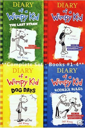 book Diary of a Wimpy Kid, Books 1-4: Diary of a Wimpy Kid, Rodrick Rules, The Last Straw, and Dog Days