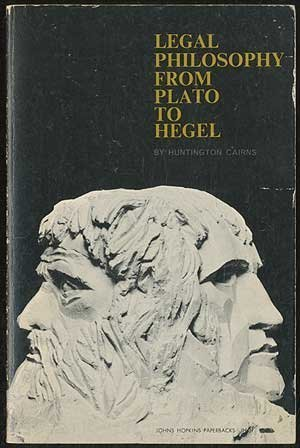 book Legal Philosophy from Plato to Hegel Paperback - March 1, 1967