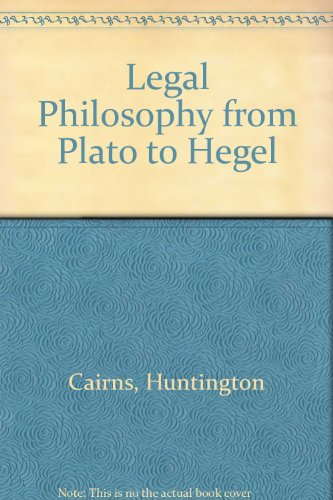 book Legal Philosophy from Plato to Hegel.