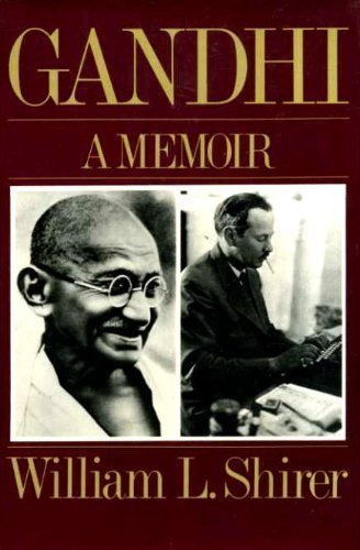 book Gandhi a Memoir 1st edition by William L. Shirer (1980) Hardcover
