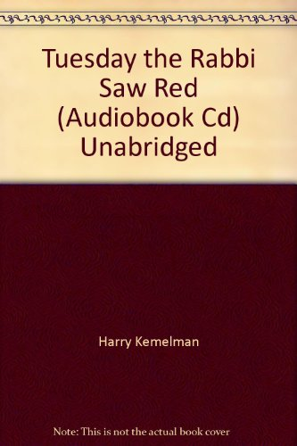 book Tuesday the Rabbi Saw Red (Audiobook Cd) Unabridged