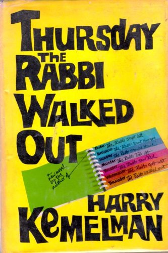 book Thursday the Rabbi Walked Out