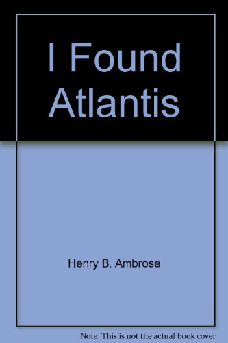 book I Found Atlantis