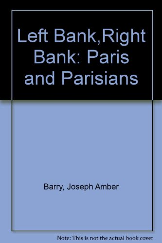 book LEFT BANK RIGHT BANK Paris and Parisians