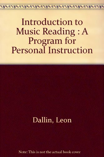 book Introduction to Music Reading: A Program for Personal Instruction