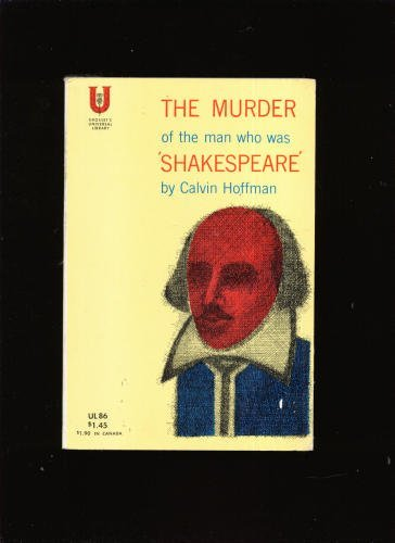 book Murder of the Man Who Was Shakespeare