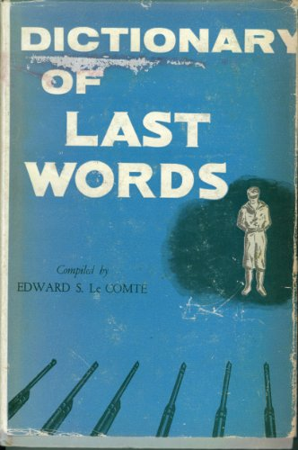 book Dictionary of Last Words