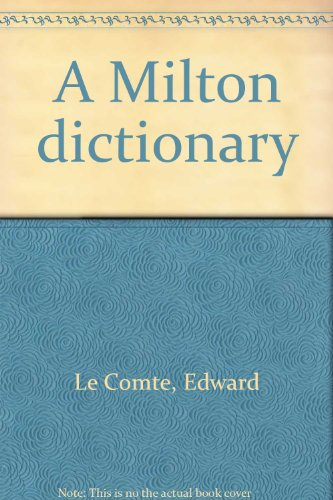 book A Milton Dictionary