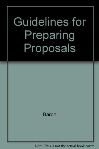 book Guidelines For Preparing Proposals