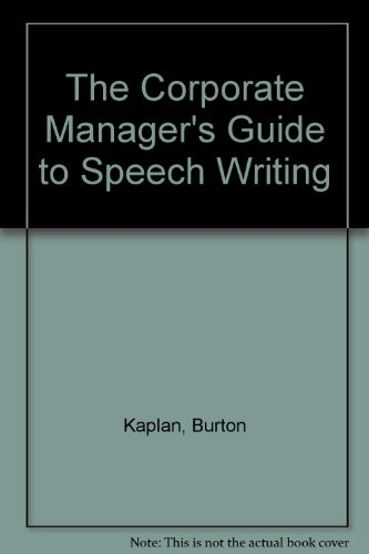 book Manager\'s Complete Guide to Speech Writing