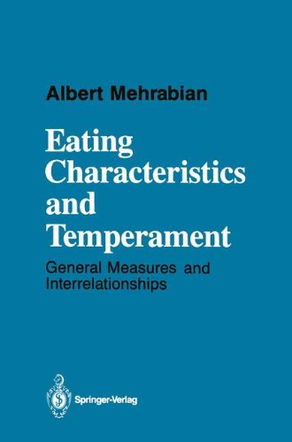 book Eating Characteristics and Temperament: General Measures and Interrelationships