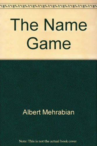 book The name game: The decision that lasts a lifetime Paperback 1990