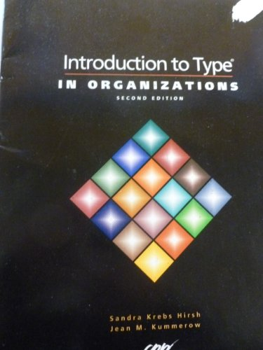 book Introduction to Type in Organizations - Individual Interpretice Guide (ISBN 0890160359)