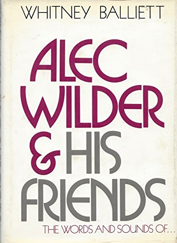 book Alec Wilder and His Friends