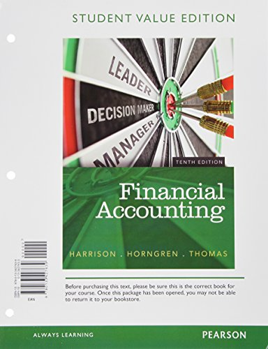 book Financial Accounting, Student Value Edition Plus NEW MyAccountingLab with Pearson eText -- Access Card Package (10th Edition)