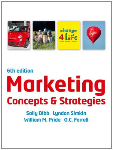 book Marketing Concepts and Strategies. Sally Dibb ... [Et Al.]