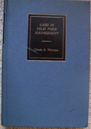 book Cases in Sales Force Management