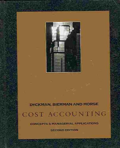 book Cost Accounting Check Figures: Concepts and Managerial Applications