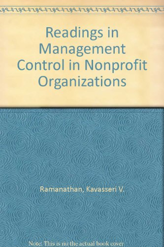 book Readings in Management Control in Nonprofit Organizations