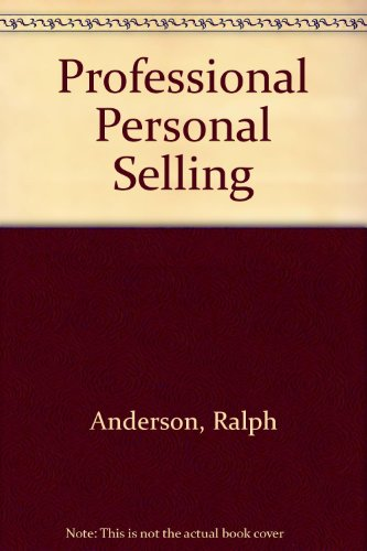 book Professional Personal Selling