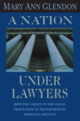 book A Nation under Lawyers by Glendon, Mary Ann (1996) Paperback