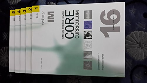 book Internal Medicine Review Core Curriculum 16th Edition 5 Volume Set