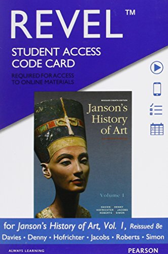 book REVEL for Janson\'s History of Art, Volume 1 Reissued Edition --  Access Card (8th Edition)
