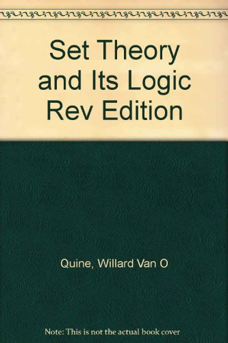 book Set Theory and Its Logic Rev Edition