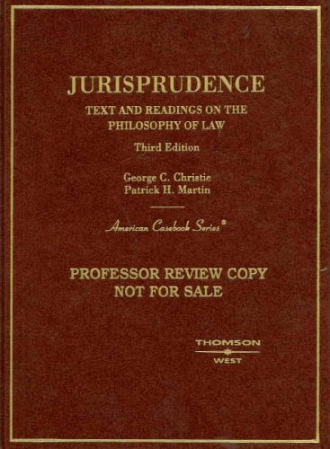 book Jurisprudence, Text and Readings on the Philosophy of Law (American Casebook Series)