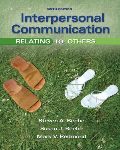 book Interpersonal Communication: Relating to Others (6th Edition)