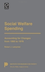 Social Welfare Spending: Accounting for Changes from 1950 to 1978 (Poverty Policy Analysis) (Institute for Research on Poverty Poverty Policy Analysis Se)