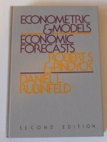 Econometric models and economic forecasts by Pindyck, Robert S (1981) Paperback